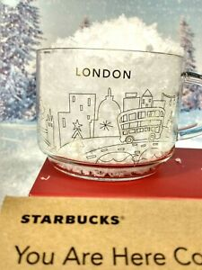 STARBUCKS  Limited Edition Glass London Mug You Are Here New In Box