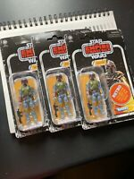 IN HAND 3x Star Wars Retro Collection Boba Fett Action Figure 3.75 Hasbro Kenner