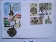 114705 Numisbrief 750 Jahre Berlin Nikolaiviertel mit 5 Mark Münze DDR von 1987
