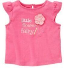NWT Gymboree Girls Fairy Garden Pink Little Flower Fairy Top Size 3-6 M