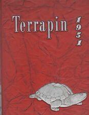 1951 UNIVERSITY OF MARYLAND YEARBOOK (*THE TERRAPIN*/ORIGINAL YEARBOOK)