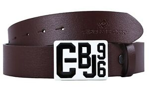 Cipo & Baxx Men's Real Leather Belt Streetwear Large Buckle Dope Swag