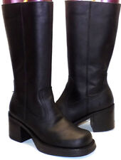 FRYE Villager Black Leather Tall Boho Boots Women's US Shoe Size 5.5M