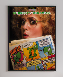 Stern Introduces Turtles Arcade Video Game Retro Print Poster 18x24 inches