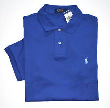 NWT Men's Ralph Lauren Short-Sleeve Jersey Polo Shirt, Indigo Blue, M, Medium