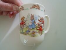 Vintage Retro Royal Doulton BUNNYKINS Childs Mug (Bunny Rabbits Cowboys+Indians)
