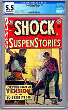 SHOCK SUSPENSTORIES #16 CGC 5.5 *CONTROVERSIAL RAPE STORY* JOE ORLANDO EC 1954