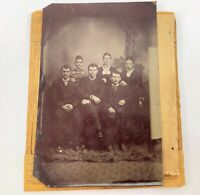 Antique 1800s South Wild West Group Husbands Wives USA Tintype Photo Photograph