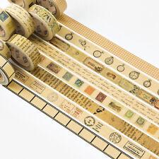 2pcs/lot Retro Series Kraft Paper Washi Tape Decorative Office Adhesive Tape