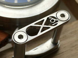22 mm stainless steel roller watch buckle.Neo Decima  .Brushed finish.