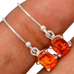 Orange Kyanite 925 Sterling Silver Earring Jewelry BE61293