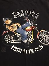 Vintage Popeye Motorcycle Chopper Strong To The Finish Mens T Shirt Medium M
