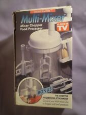 "Multi-Mixer Chopper Food Processor by Home Smart Manual Mixer 6"" Tall"