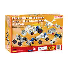 Tronico Metallbaukasten 7-in-1 Starter Einsteiger 840 Teile Fahrzeuge