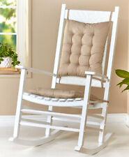 Two Piece Sand Beige Rocker Rocking Chair Cushions Seat & Back Pads Set w/ Ties