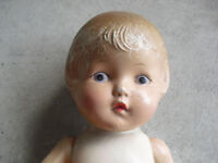"Vintage 1930s Composition Character Girl Doll 16"" Tall"
