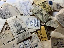 mix bag of 110 swiss made mainsprings for movado bulova minerva benrus & more