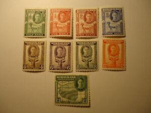 Somaliland  Protectorate KGVI 1942 SG105-113 MM