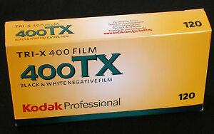 Kodak Tri-X 400 120 Medium Format Roll 5 Films Mhd / Expiry Date 08/2022