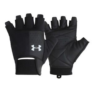 Under Armour Training Gloves Weight Lifting Fitness GYM Black 1328620-002