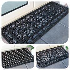 Black Rubber Non Slip Dootmats Mud Catcher Outdoor Mat Heavy Duty Classic Mats