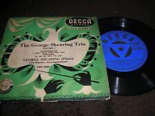 JAZZ-GEORGE SHEARING TRIO VOLUME 2 4 TRACK E.P. TRI-CENTRE DECCA DFE 6030