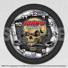 Mechanic - Man Cave - Personalized Grunge Skull Wall Clock - Tool Man