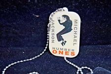 MICHAEL JACKSON # ONES DOUBLE-SIDED DOG TAG NEW