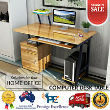 Computer Table Study Desk Home Office Work PC Station Storage Drawers Book Shelf