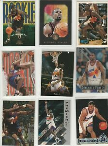 MICHAEL FINLEY LOT (24) DIFFERENT W/ 15 1995-96 ROOKIES RC METAL SP GALLERY E-XL