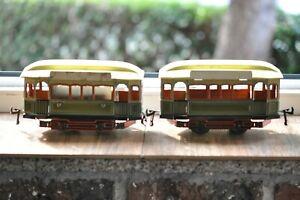 Gebrüder BING Straßenbahn 2-teilig  elektrisch Originalzustand selten