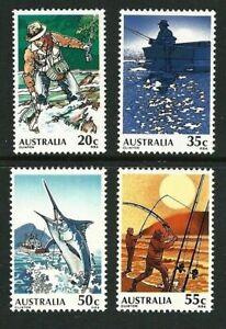 Australia 1979  Fishing in Australia Set of 4 MNH