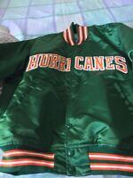 Starter Satin Vintage Miami Hurricanes Jacket