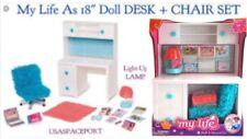 "My Life As White DESK + Blue CHAIR School for 18"" American Girl Doll Set RETIRED"