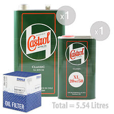 Engine Oil and Filter Service Kit 5 LITRES Castrol Classic XL 20W-50 5L