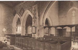 Buckinghamshire Postcard - Stoke Poges Church - The Pen Pew   ZZ2630
