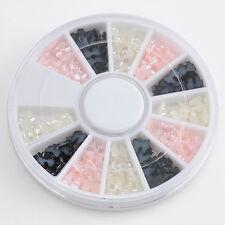 240PCS 3D Resin Bow Tie Nail Art Wheel Charms Decoration Manicure DIY 3 Colors
