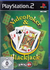 Video Poker &  Blackjack  (PS2) In Box, mit Anleitung