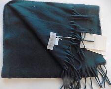 UNISEX SCARF ROYAL SPEYSIDE CASHMERE wool MADE SCOTLAND dark green NEW TAGS  £89