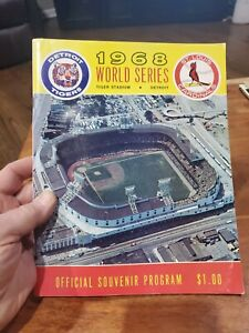 World Series Baseball Program 1968 Tiger Stadium Detroit vs St. Louis Cardinals