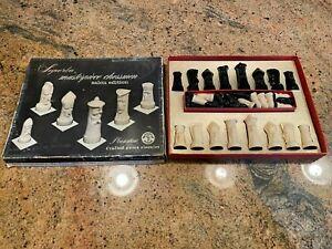 Vintage Mid Century Superba Masterpiece Chessmen Salon Edition Chess Pieces