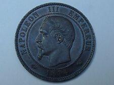 10 cts Napoleon III Tête nue 1856 W
