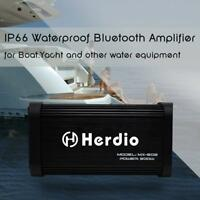 Herdio Marine Bluetooth Motorcycle Boat Stereo USB MP3  Amplifier 500W 4 channel