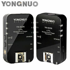 YONGNUO Wireless TTL Slave Shoe Flash Trigger YN622N with HSS 1/8000 for Nikon