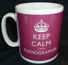Keep Calm I'm A Radiographer Gift Mug Cup In Carry On Style Any Colour Or Name