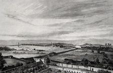Estambul fatih eski saray (Eminönü) original acero pinchazo 1840 turquía Türkiye