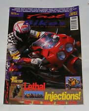 FAST BIKES JUNE 1995 - 748SP V RC45 V GSXR750 V ZXR750 V YZF750/156BHP THUG