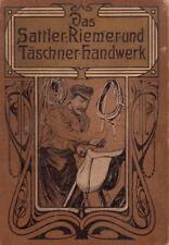 Das Sattler Riemer Täschner Handwerk 743 S. 1078 Abb. CD Lederarbeiten + Bonus