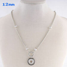 Fits Ginger Snap Mini Ginger Snaps Necklace Silver Petite 12mm Jewelry Button