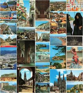 Rare Vintage Spain Postcards - Tenerife, Madrid, Barcelona etc - Pick Yours.